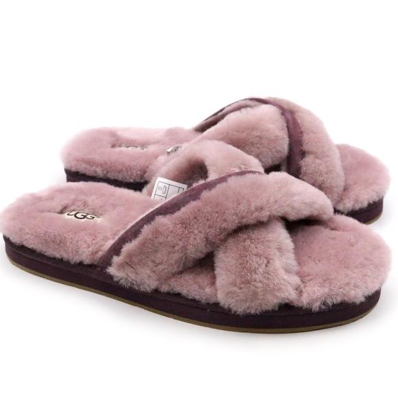 974ca6fcf UGG Shoes | Abela Dusk Pink Fluffy Sheepskin Scuffs New | Poshmark